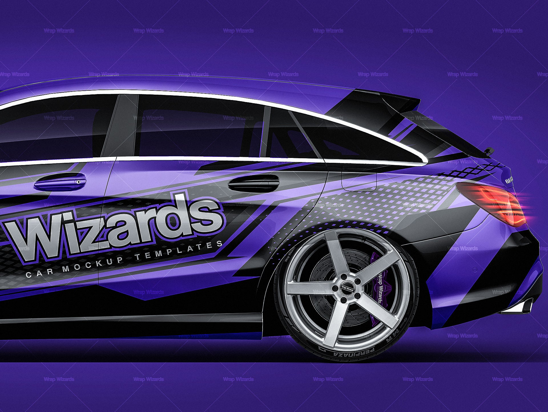 Mercedes Benz CLA Shooting Brake 2016 all sides Car Mockup Template.psd