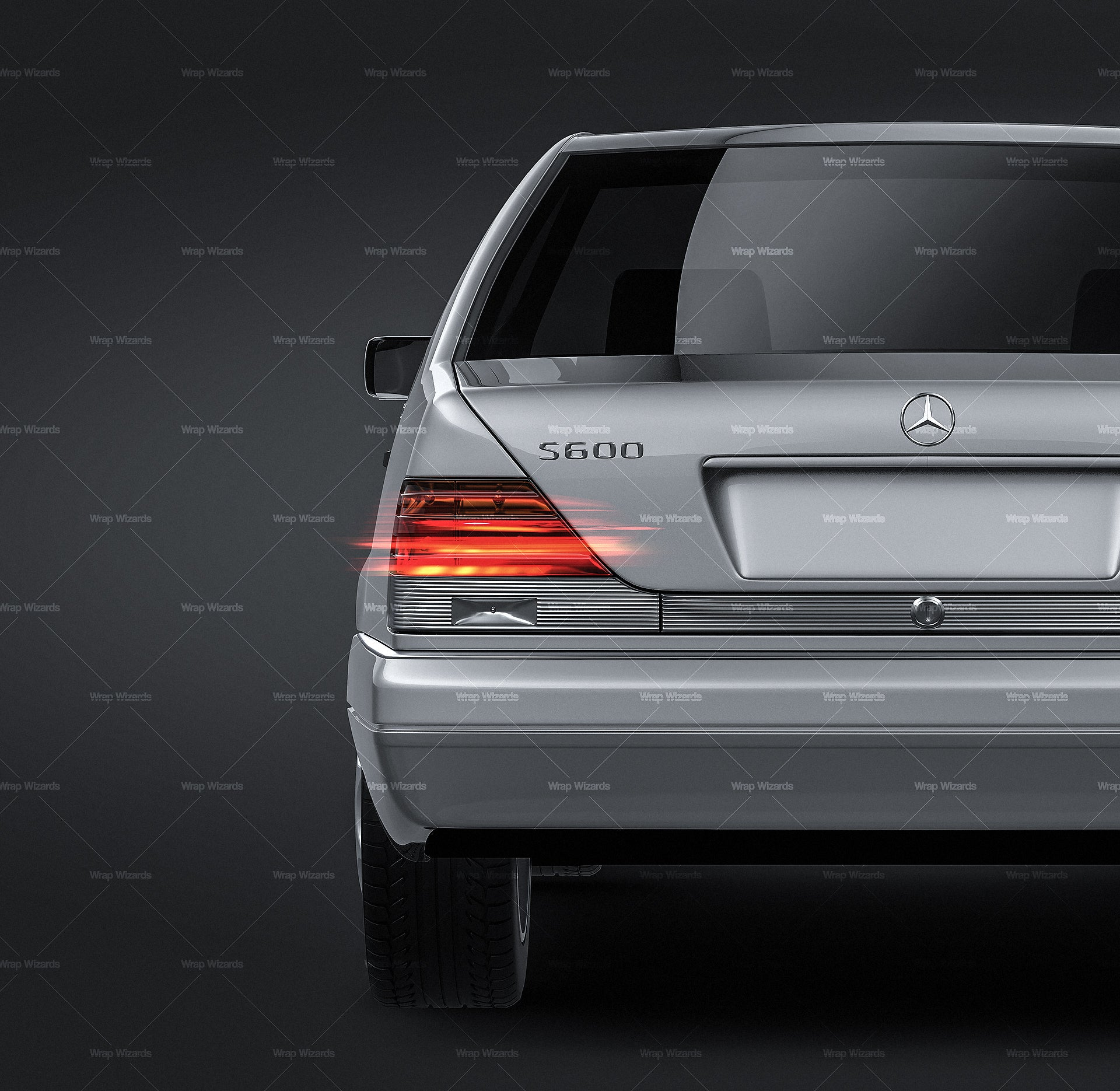 Mercedes-Benz S-Class W140 all sides Car Mockup Template.psd