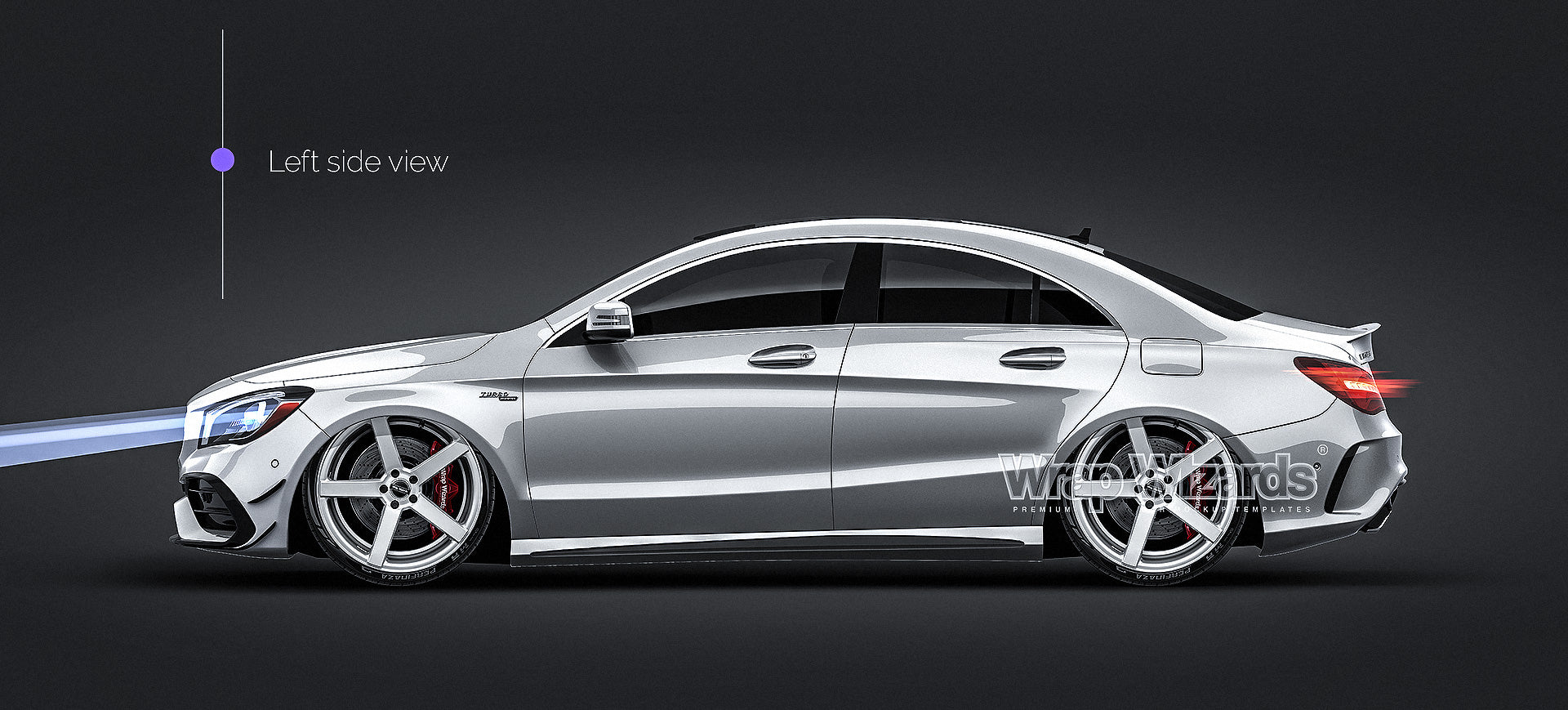 Mercedes Benz CLA 45 AMG 2017 all sides Car Mockup Template.psd