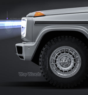 Mercedes-Benz G-class W463 2019 glossy finish - all sides Car Mockup Template.psd