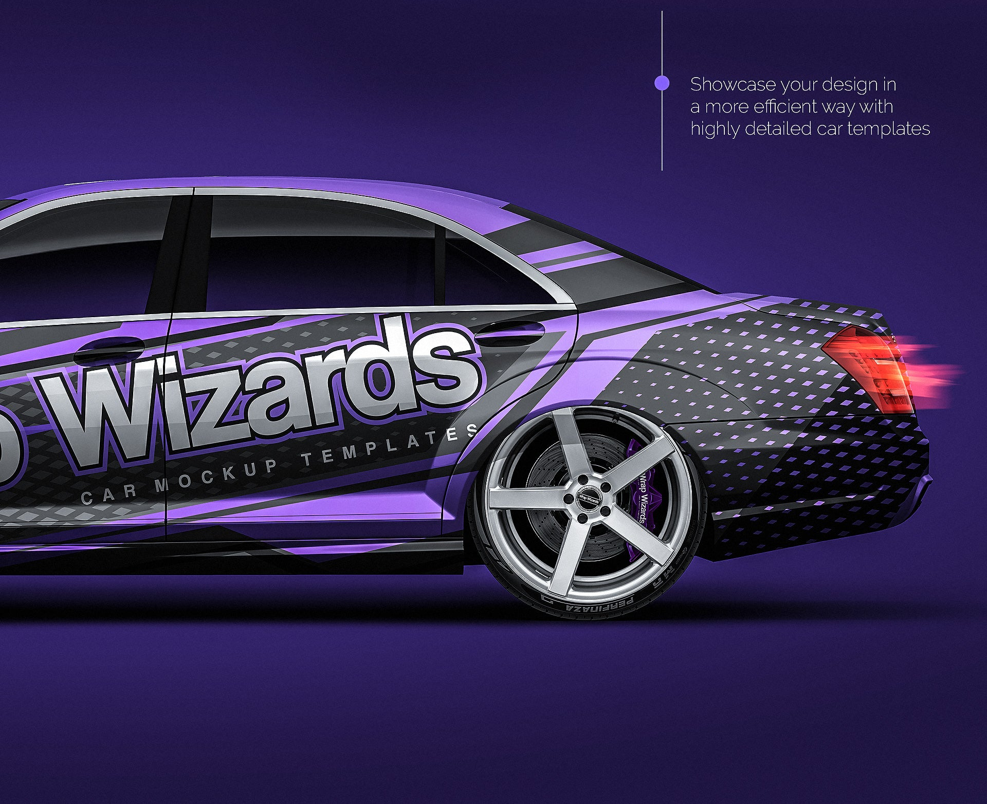 Mercedes Benz S Class AMG 2010 all sides Car Mockup Template.psd
