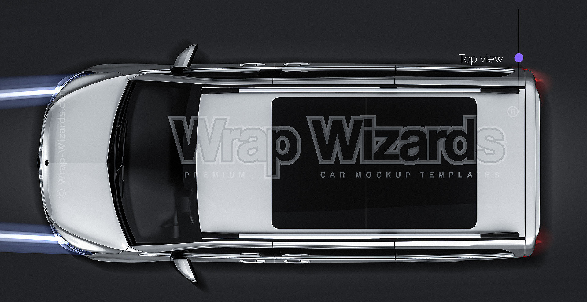 Mercedes-Benz V-Class AMG 2020 glossy finish - all sides Car Mockup Template.psd