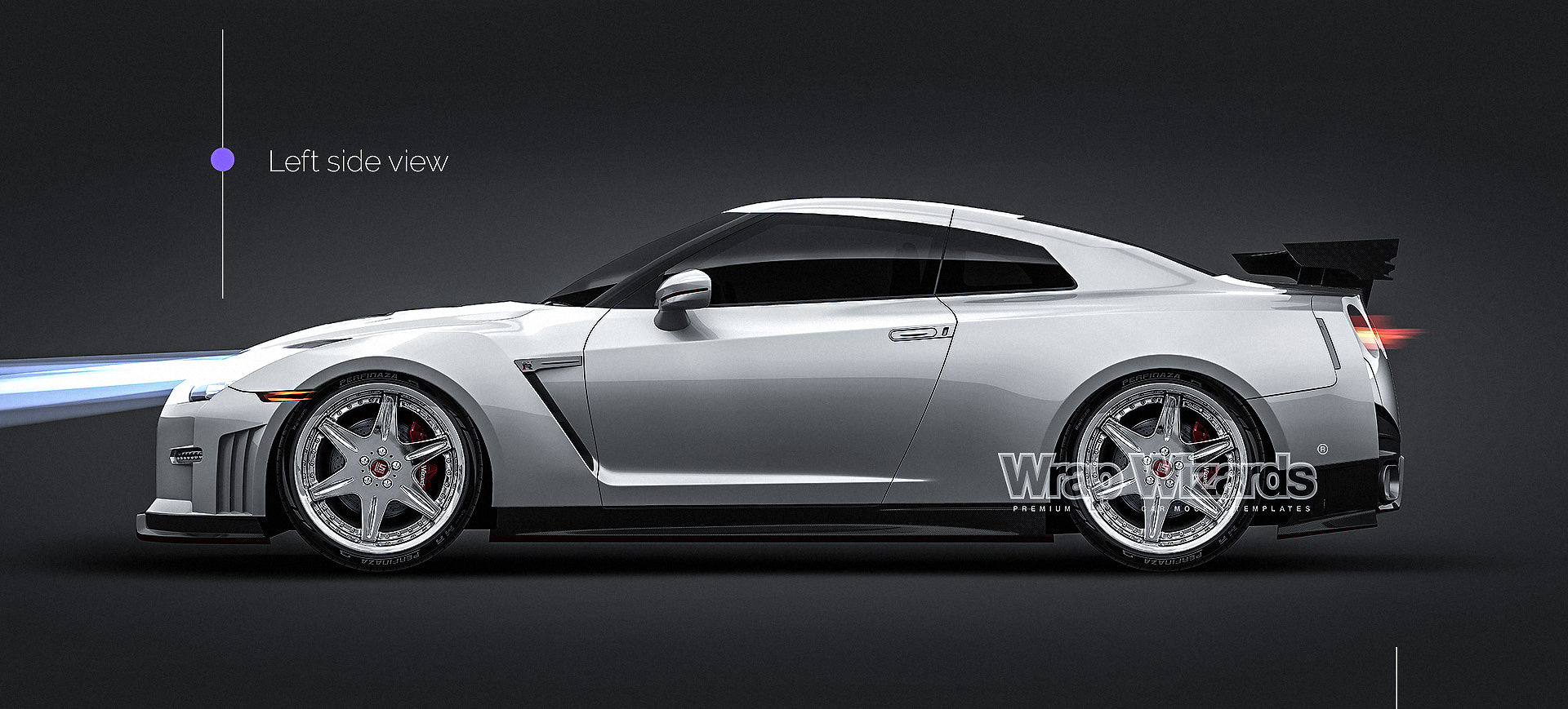 Nissan GT-R Nismo 2015 all sides Car Mockup Template.psd