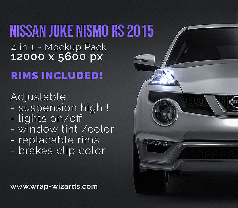 Nissan Juke Nismo RS 2015- all sides Car Mockup Template.psd