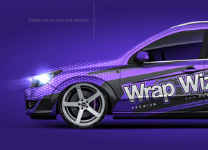 Opel Astra H Touring - all sides Car Mockup Template.psd