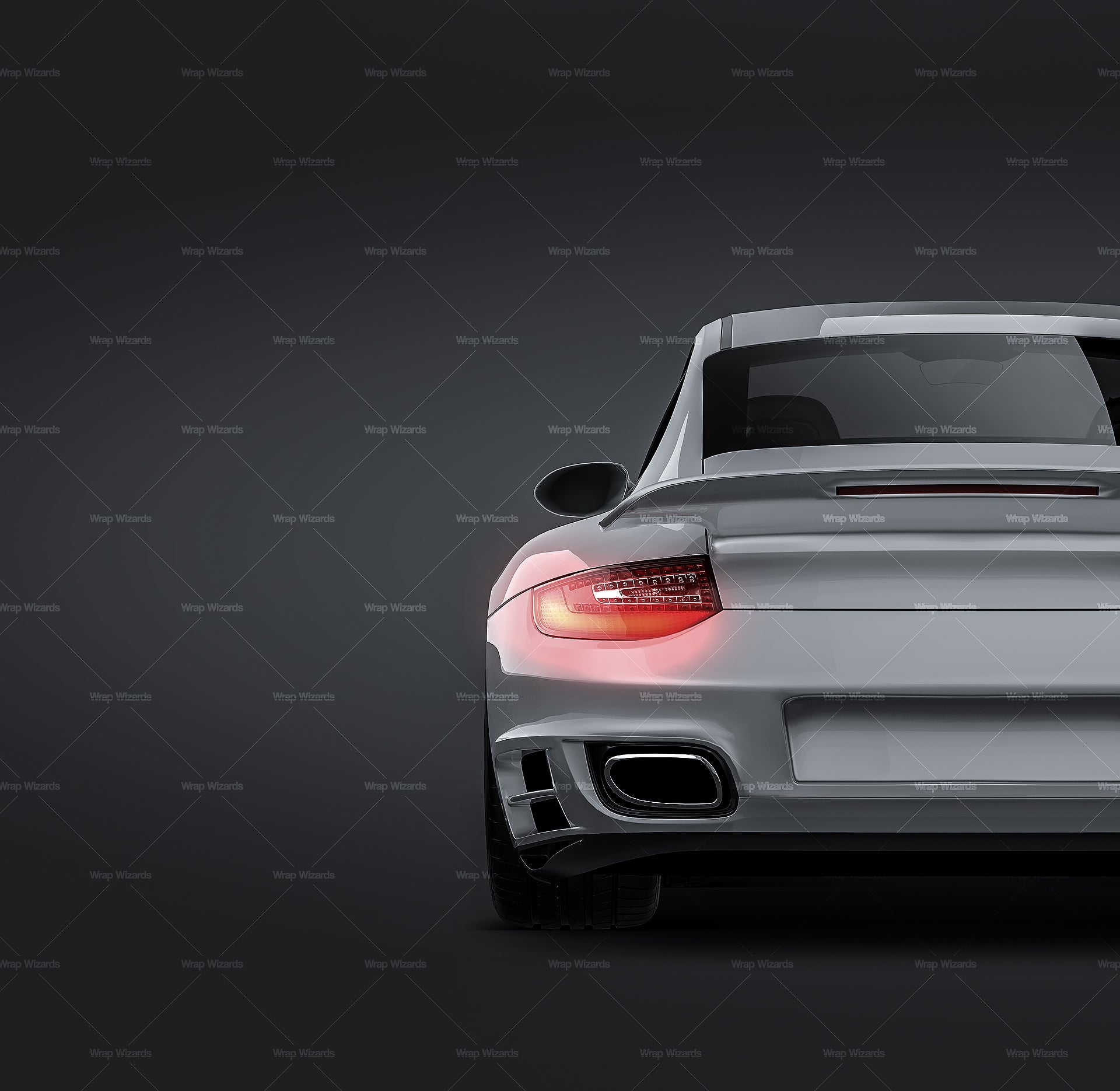 Porsche 911 997 Turbo 2010 glossy finish - all sides Car Mockup Template.psd