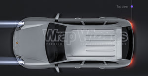 Porsche Cayenne S 2003 glossy finish - all sides Car Mockup Template.psd