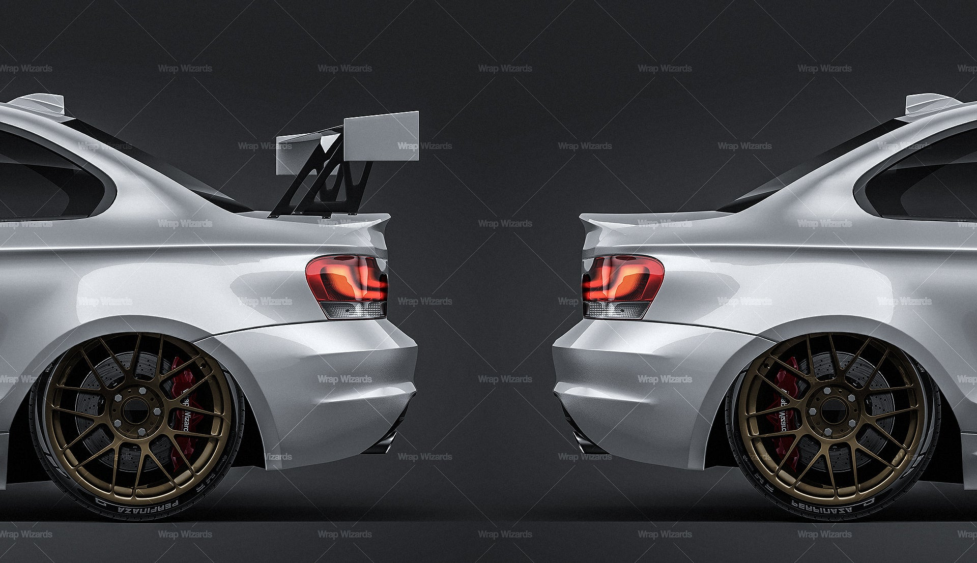 RACING WING SPOILER - all sides Mockup Template.psd