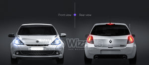 Renault Clio RS 2010 all sides Car Mockup Template.psd