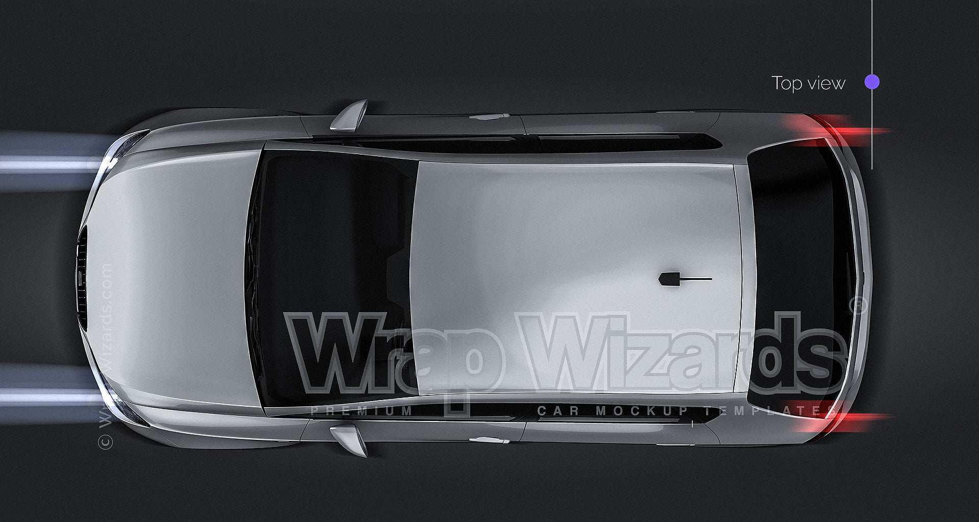SEAT IBIZA IV 4 door - 2008 all sides Car Mockup Digital Template.psd