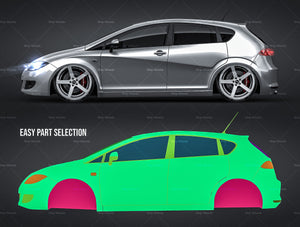 Seat Leon 2006 - all sides Car Mockup Template.psd
