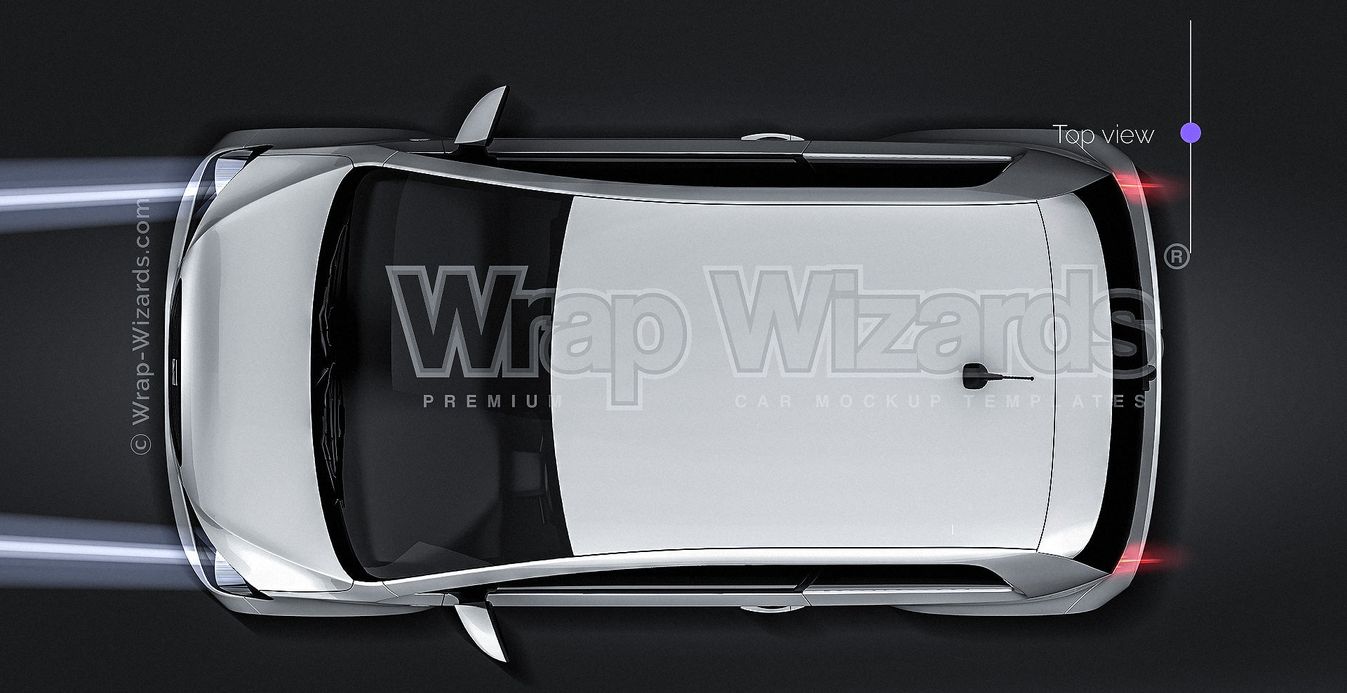 Seat MII 2012 glossy finish - all sides Car Mockup Template.psd