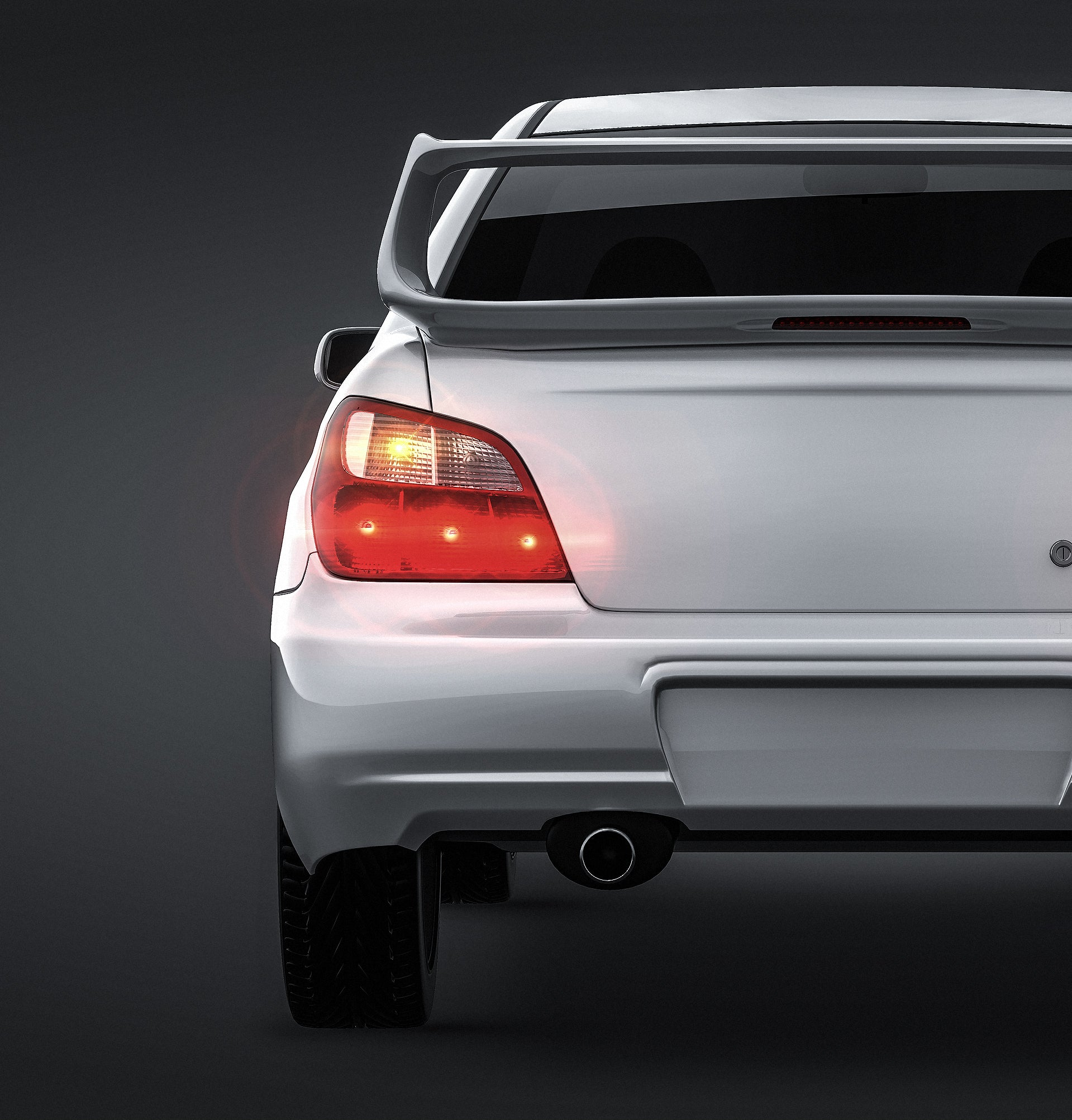 Subaru Impreza STi 2001 all sides Car Mockup Template