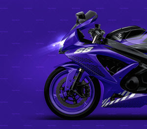 Suzuki GSX-R 600 2007 all sides Motorcycle Mockup Template.psd