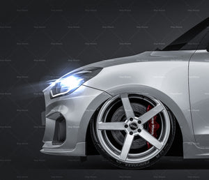 Suzuki Swift Sport 2018 all sides Car Mockup Template.psd