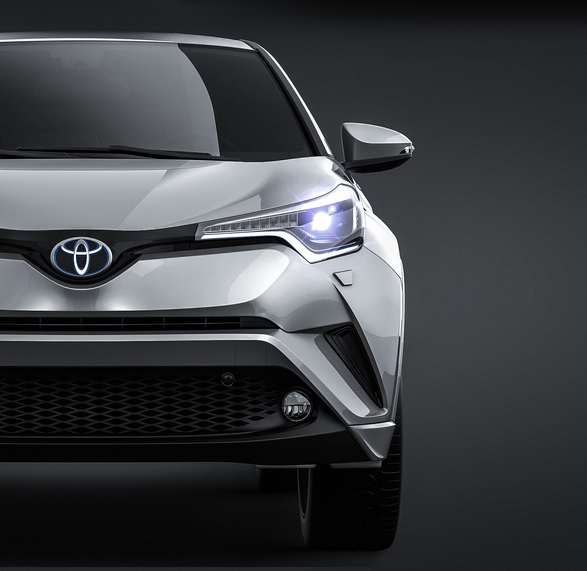 Toyota C-HR 2017 glossy finish - all sides Car Mockup Template.psd