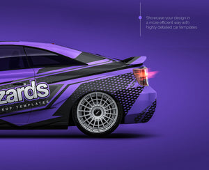 Toyota Celica 2003 all sides Car Mockup Template.psd