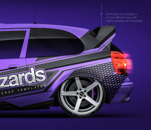 Toyota Corolla WRC 1999 - all sides Car Mockup Template.psd