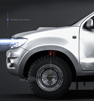Toyota Hilux Single Cab 2009 all sides Car Mockup Template.psd