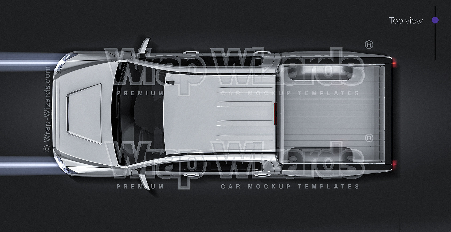 Toyota Tundra TRD 2018 - all sides Car Mockup Template.psd
