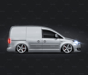 Volkswagen Caddy III Facelift (2011) without windows all sides car mockup template.psd