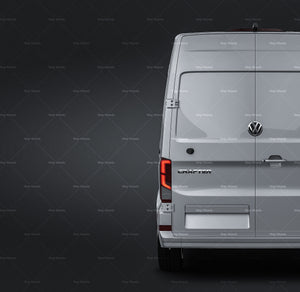 Volkswagen Crafter Long high roof 2019 all sides Car Mockup Template.psd