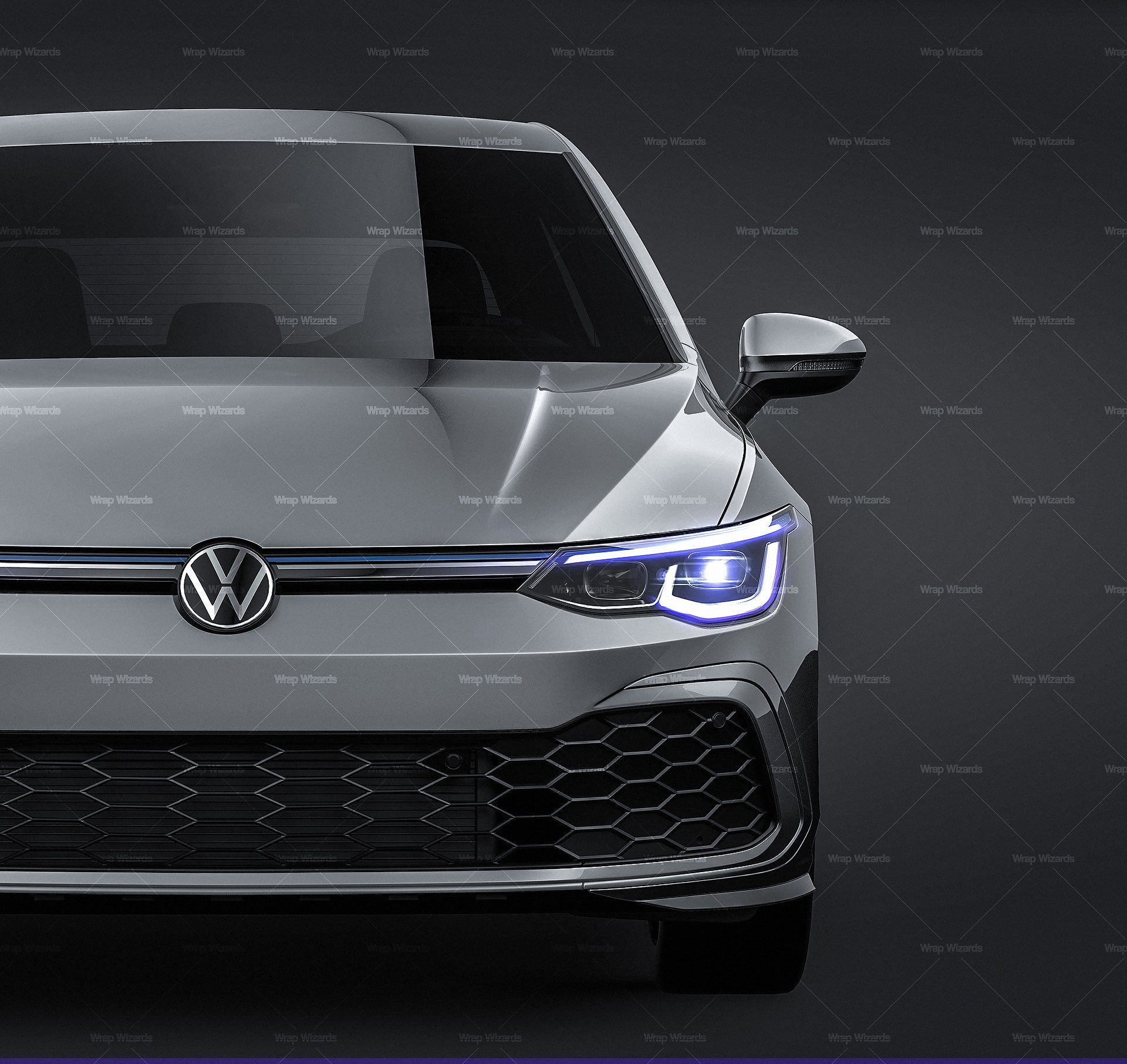 Volkswagen Golf 5-Doors MK8 GTE 2020 - all sides Car Mockup Template.psd
