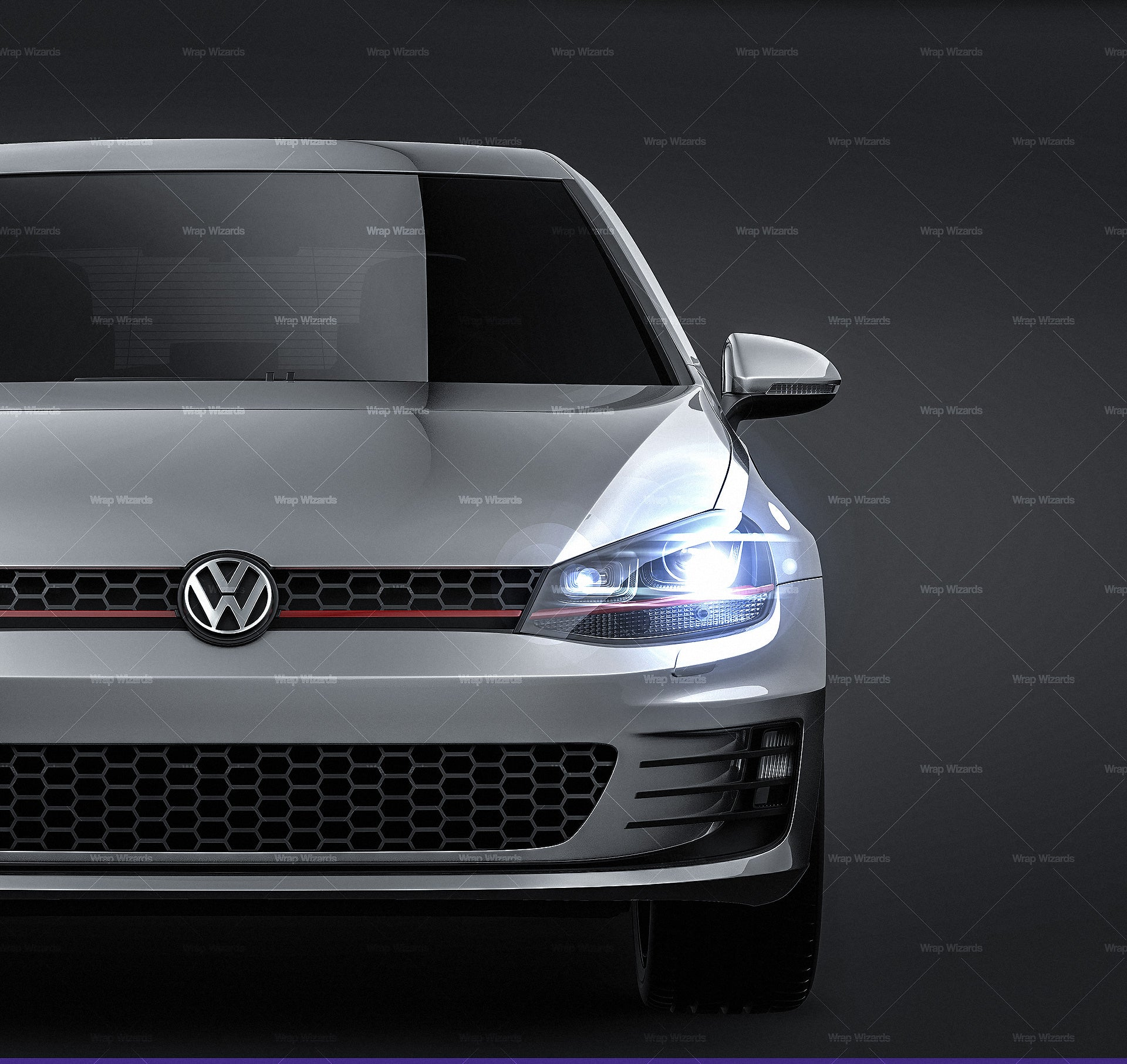 Volkswagen Golf MK7 GTI - all sides Car Mockup Template.psd
