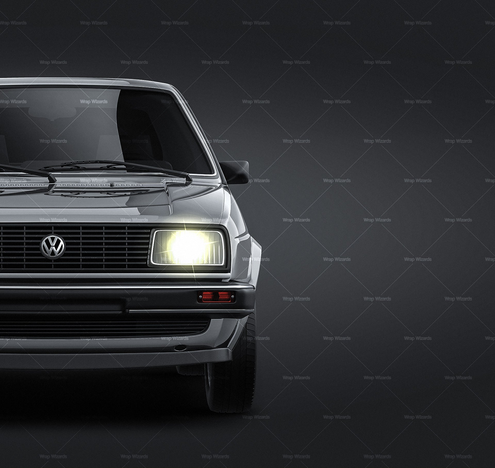 Volkswagen Jetta 1984 all sides Car Mockup Template.psd