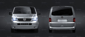 Volkswagen Transporter T5 - all sides Car Mockup Template.psd