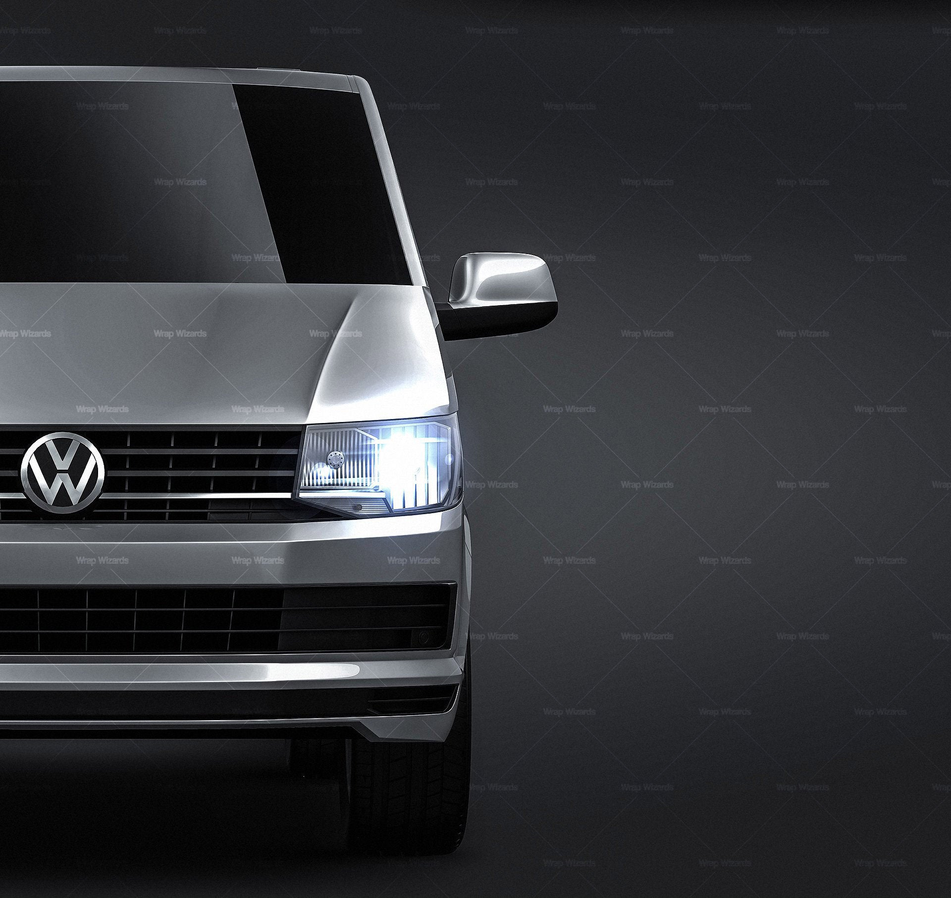 Volkswagen Transporter T6 2016 - all sides Car Mockup Template.psd