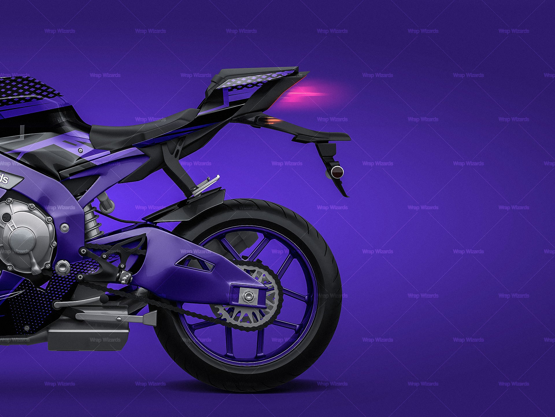 Yamaha R1 2015 all sides motorcycle mockup template.psd