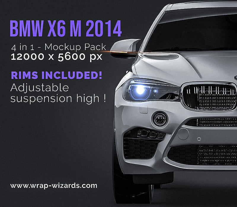 BMW X6 M 2014 all sides Car Mockup Template.psd