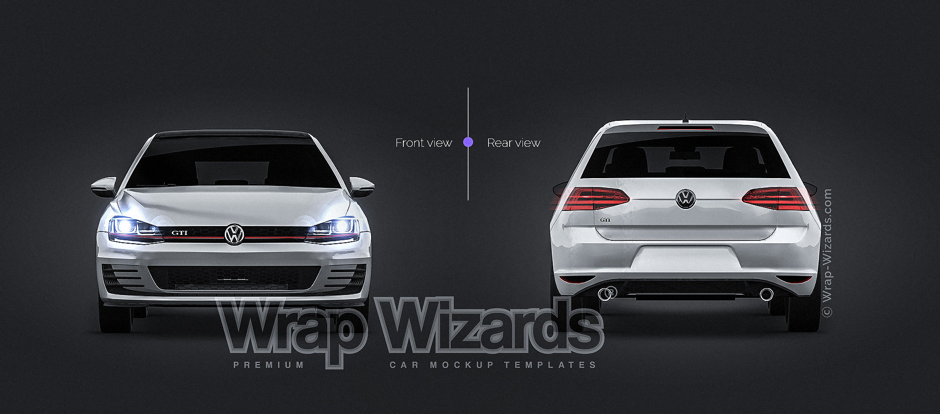 Volkswagen Golf Mk7 Gti All Sides Mockup Template Psd Wrap Wizards Com Premium Car Mockups Templates