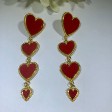 "Load image into Gallery viewer, The ""Heart of Gold"" earrings"