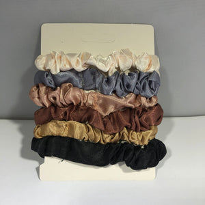 MULTICOLORED SCRUNCHIES (6 PACK)