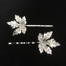 Load image into Gallery viewer, SILVER LEAF HAIR PIN(2PACK)
