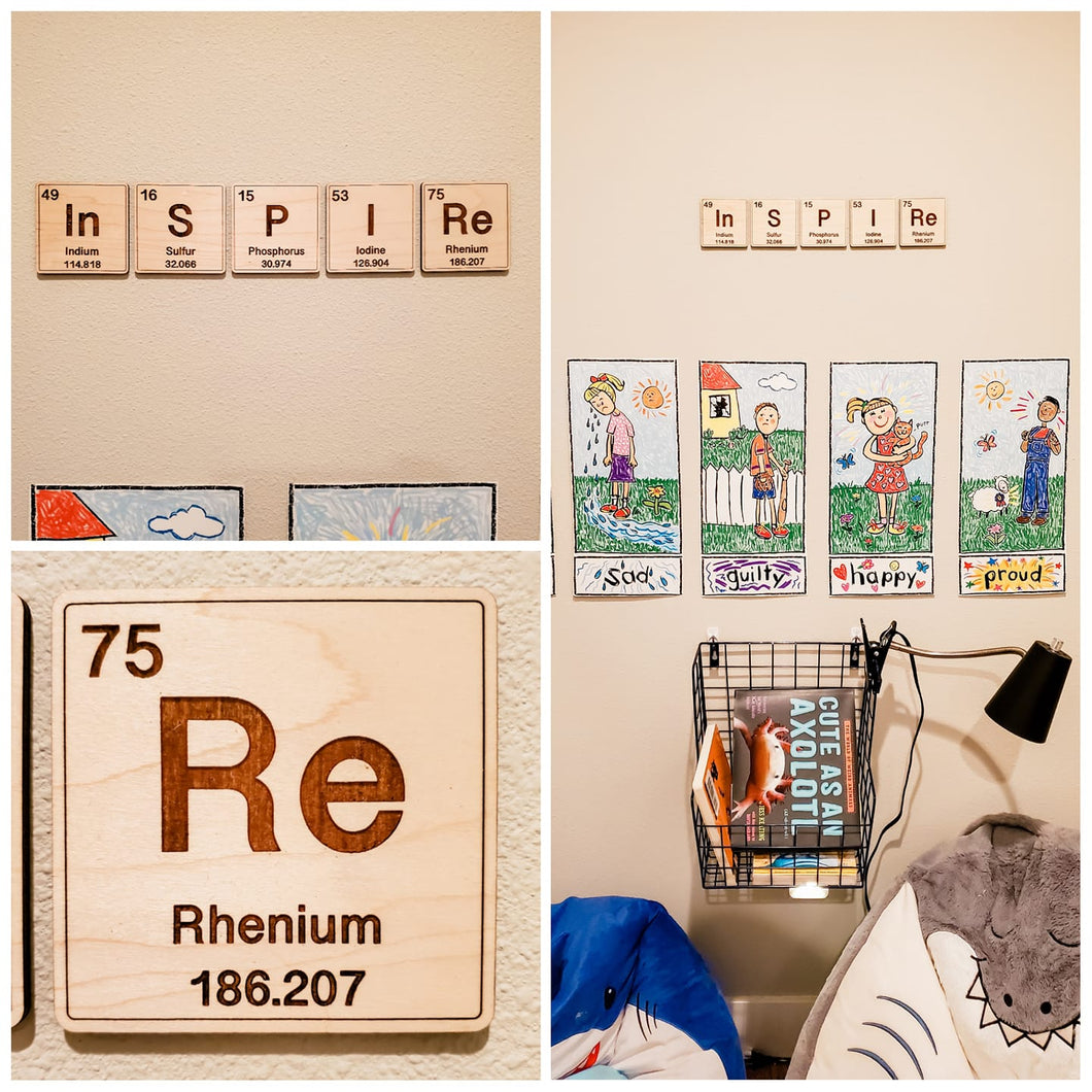 GEEKY letter tiles