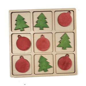 O CHRISTMAS TREE tic tac toe