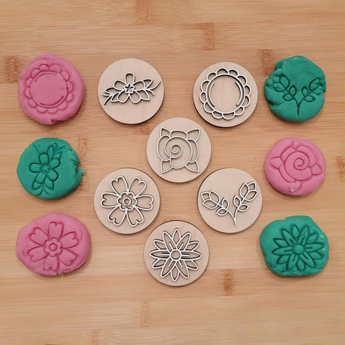 FULL BLOOM play dough stamps
