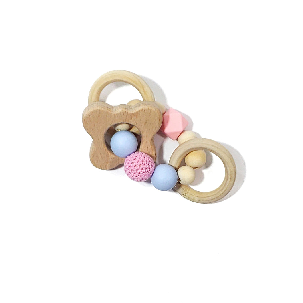pregnancy and infant awareness butterfly teether rattle