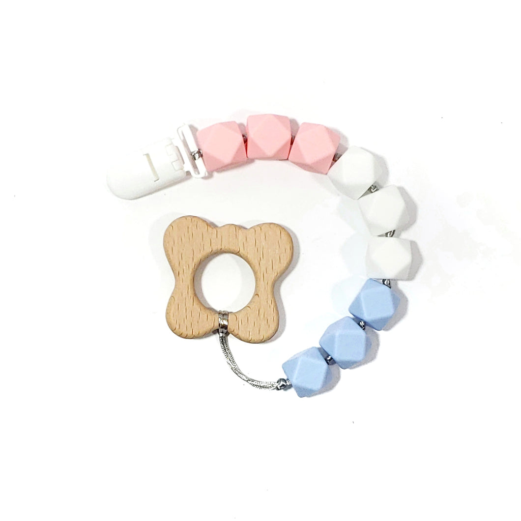 pregnancy and infant awareness butterfly teether clip