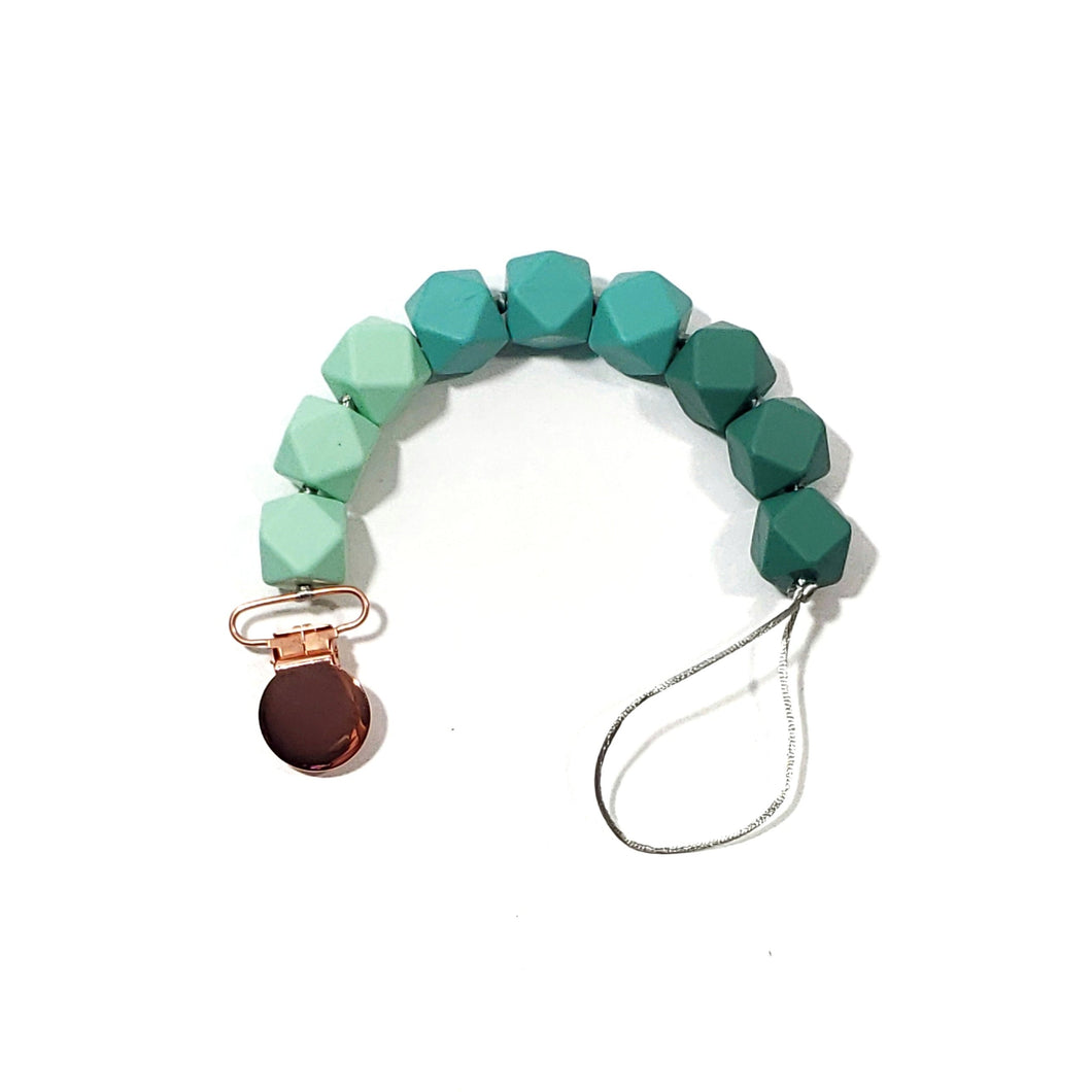 SEA GLASS OMBRÉ binky beads