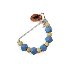 POWDER BLUE binky beads