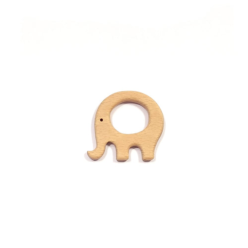 wooden elephant teether