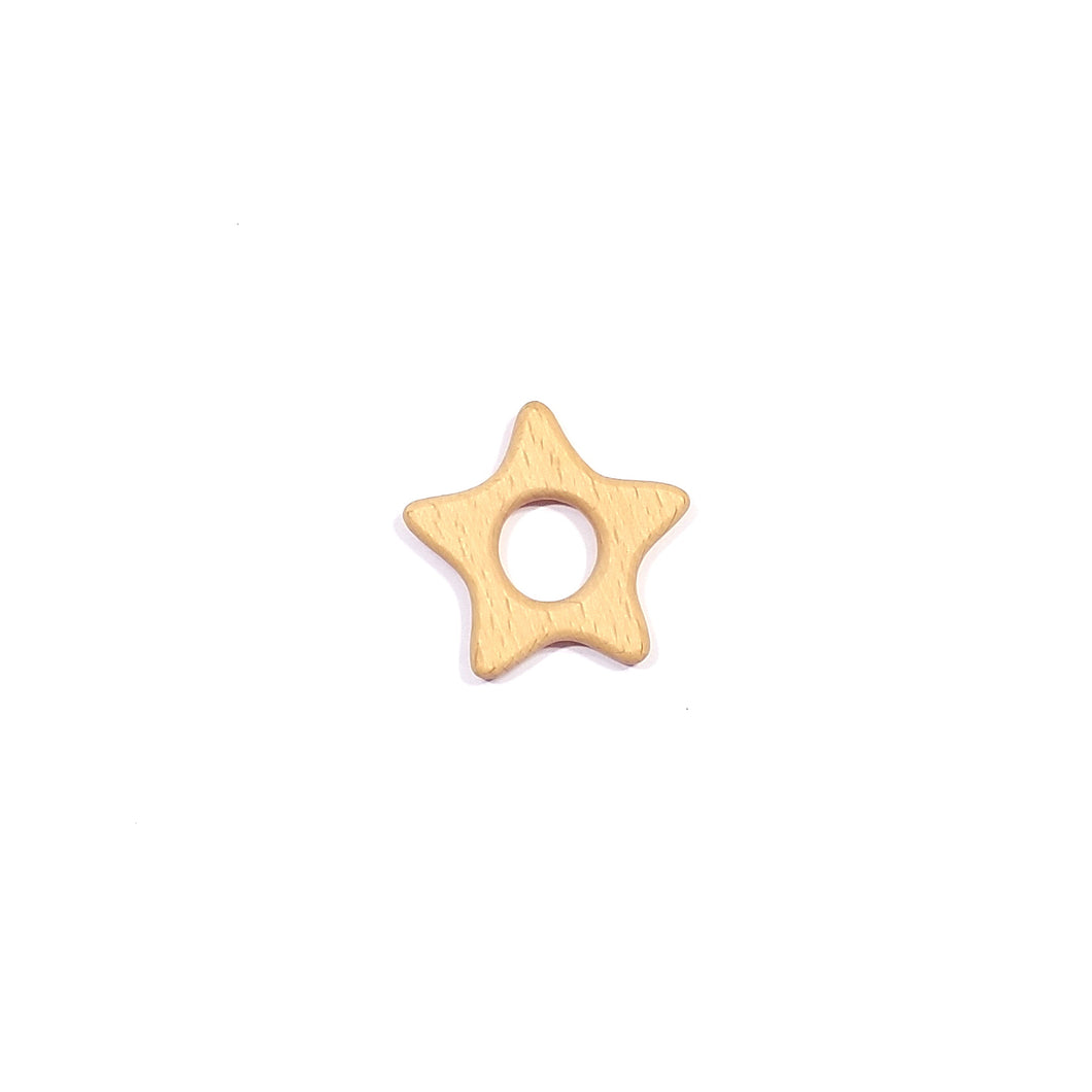 wooden star teether