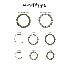 ARMY GREEN binky beads