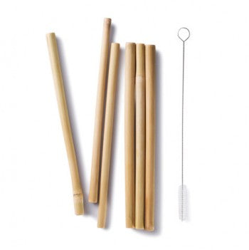 BAMBU 6pk straws + brush