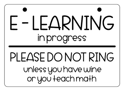 E-LEARNING WINE + MATH door hanger