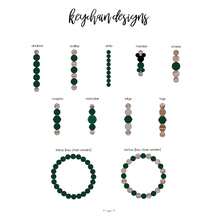FOREST GREEN binky beads